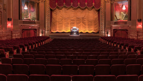 The interior of the Byrd Theatre in Carytown.